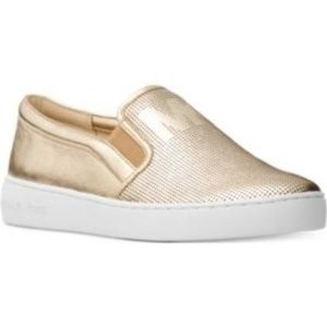"Michael Kors Slip on shoes Gold Size 8M ""Keaton"""